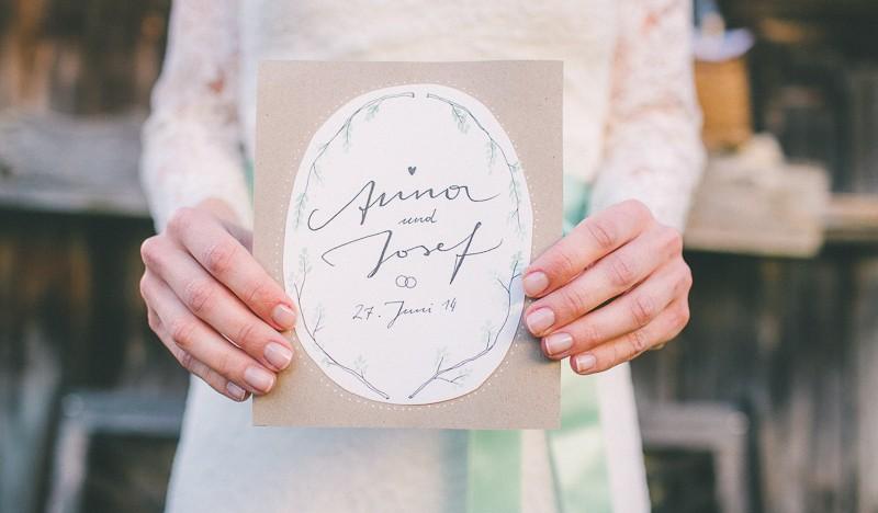 Die Hochzeitseinladungen