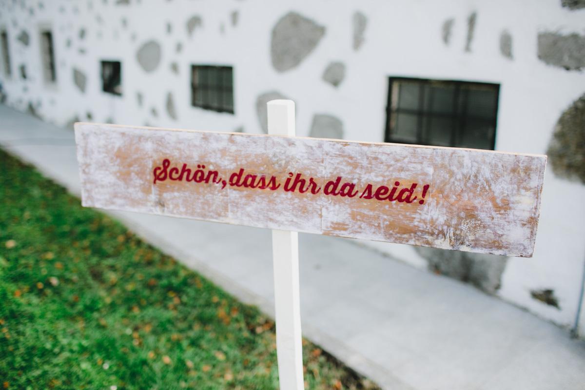 Hochzeitsdekoration Schild
