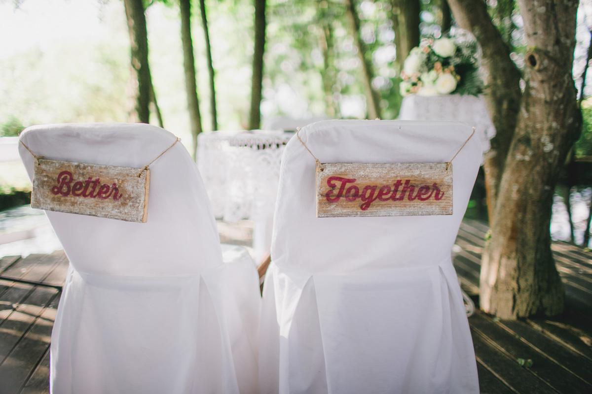 Hochzeitsdekoration Schilder
