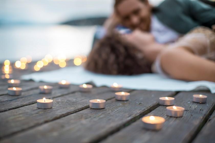 romantisches lichtermeer