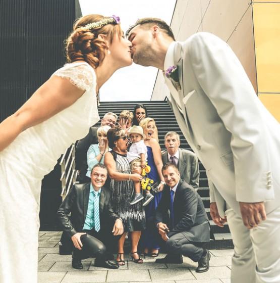 Gruppenfoto-Hochzeit