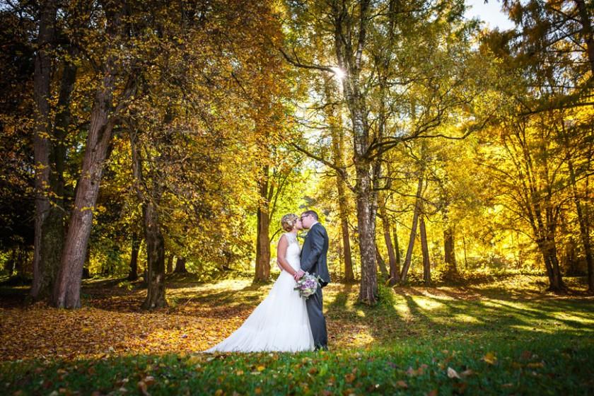 herbstfoto-Hochzeit