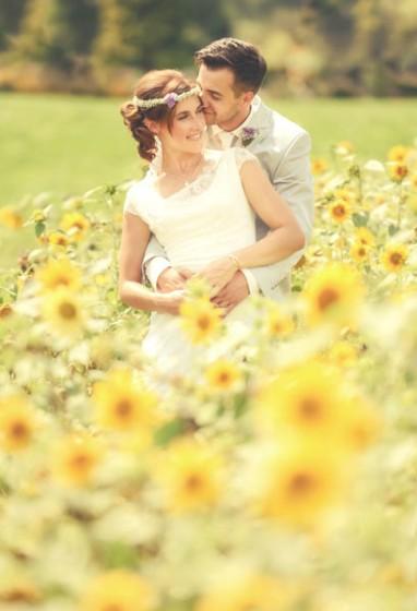 hochzeitsfoto-sonnenblumen-tirol