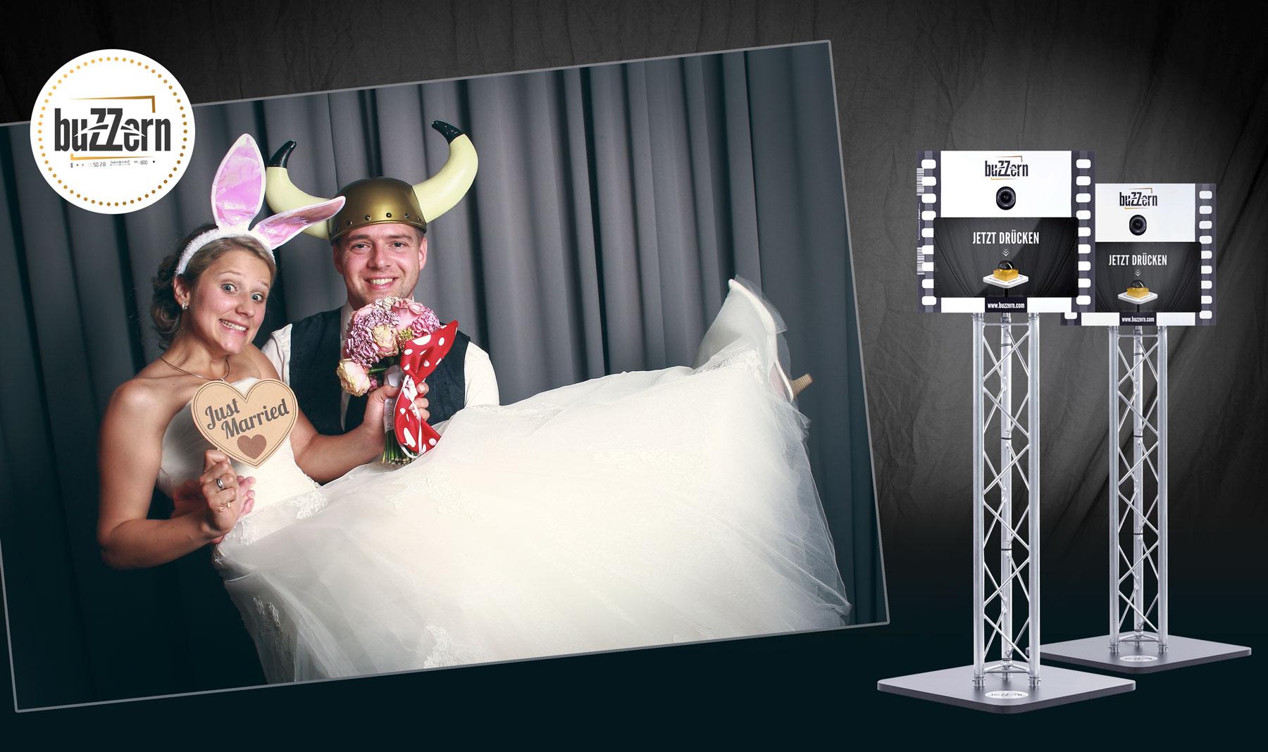 Buzzern – die Fotobox, perfekt für Hochzeiten