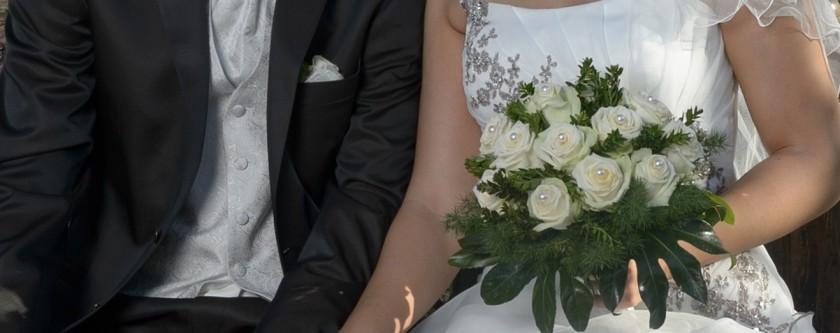 Brautpaar in den Blumengärten Hirschstetten