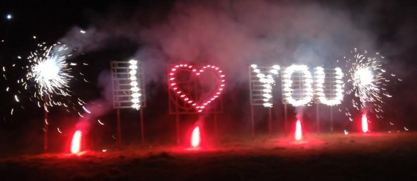 I LOVE YOU - Pyroschrift