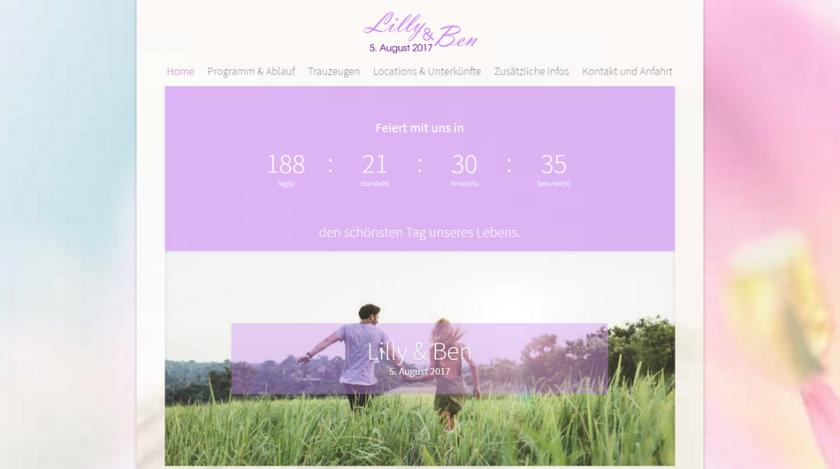 Hochzeitshomepage Demo 2 Beispiel Wedding Homepages