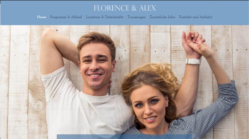 Hochzeitshomepage Demo 3 Beispiel Wedding Homepages