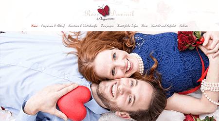 Hochzeitshomepage WDemo 4