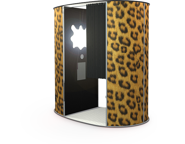 leopard photo booth