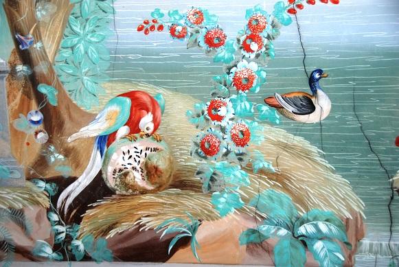Wandmalerei Tafelzimmer Detail