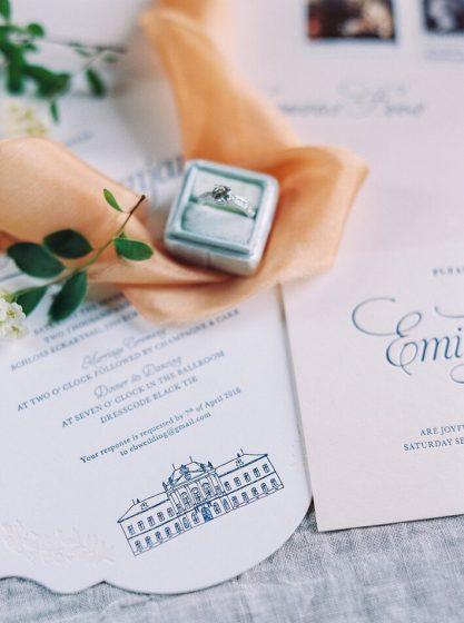 Schloss Eckartsau Einladungen @Melanie Nedelko Photography