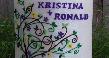 Kerze Kristina