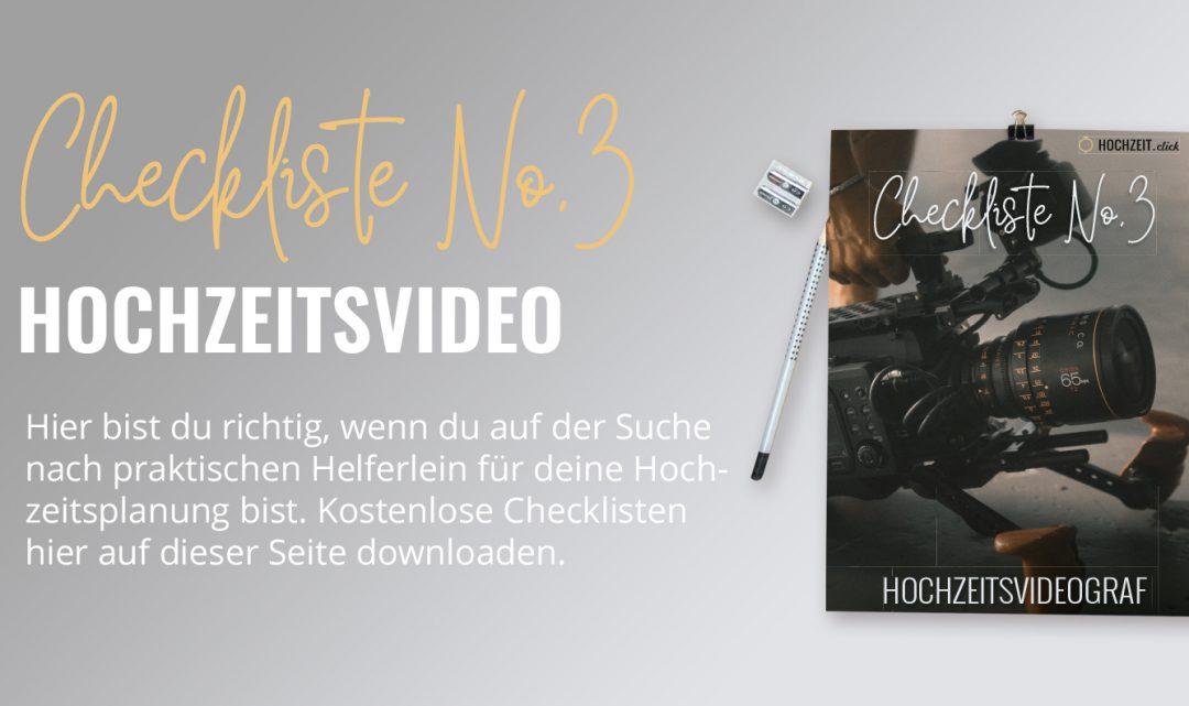 Hochzeitsvideograf Checkliste