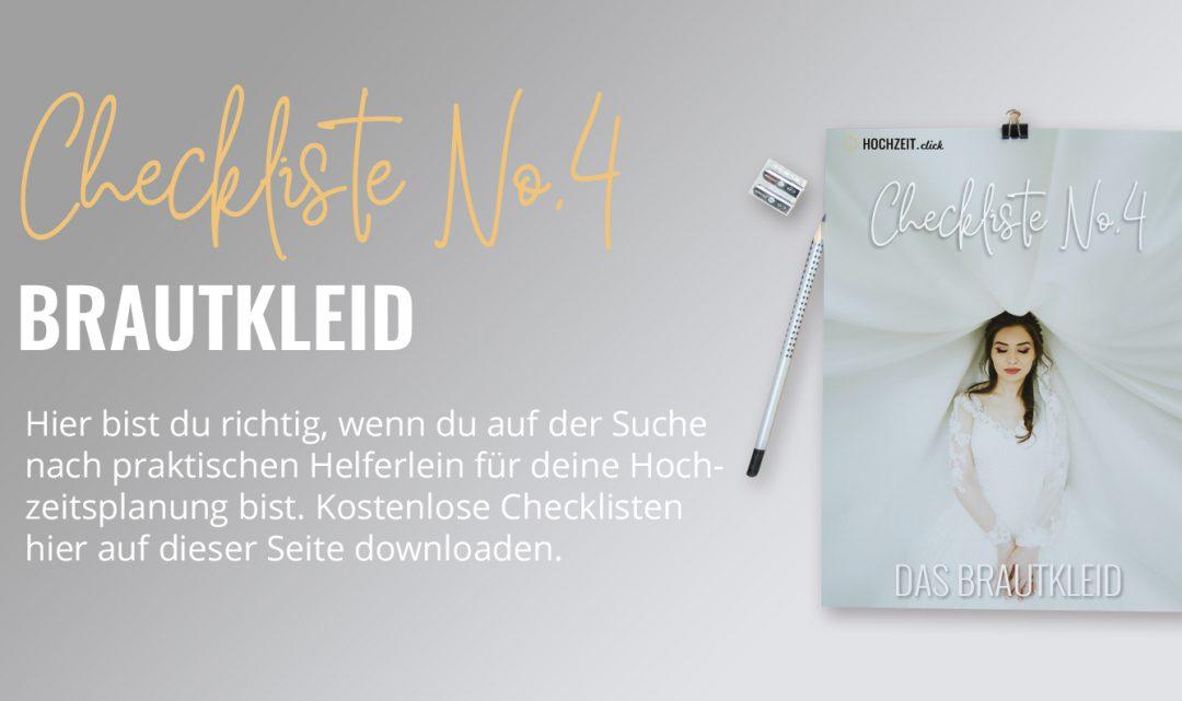 Brautkleid: Checkliste No4 (gratis PDF-Download)