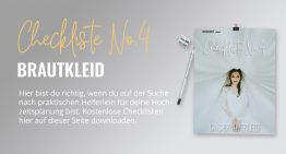 Brautkleid: Checkliste No4 (gratis PDF-Download)
