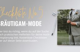 Bräutigam Mode: Checkliste No5 (gratis PDF-Download)