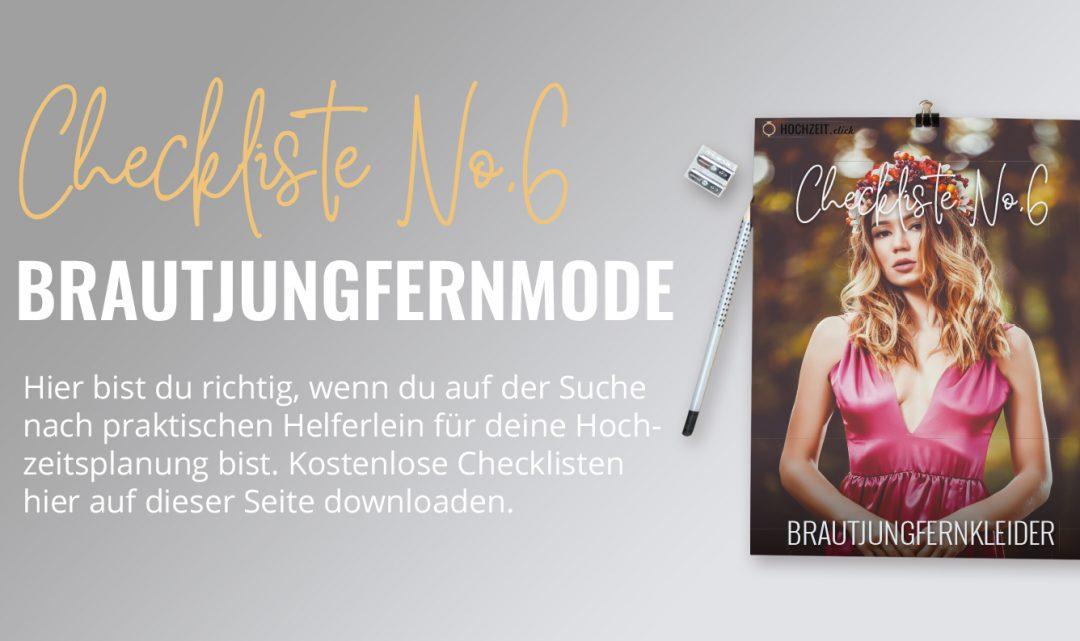 Brautjungfernkleider: Checkliste No6 (gratis PDF-Download)