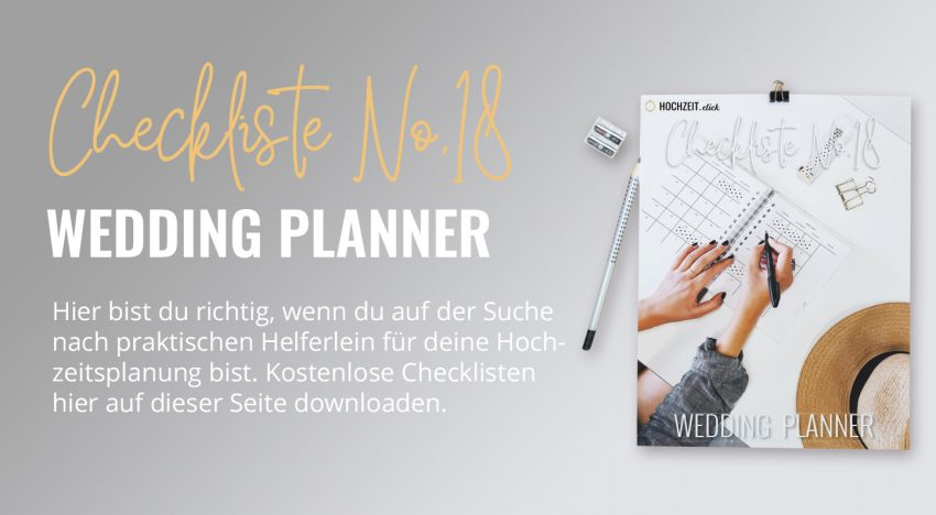Wedding Planner Checkliste