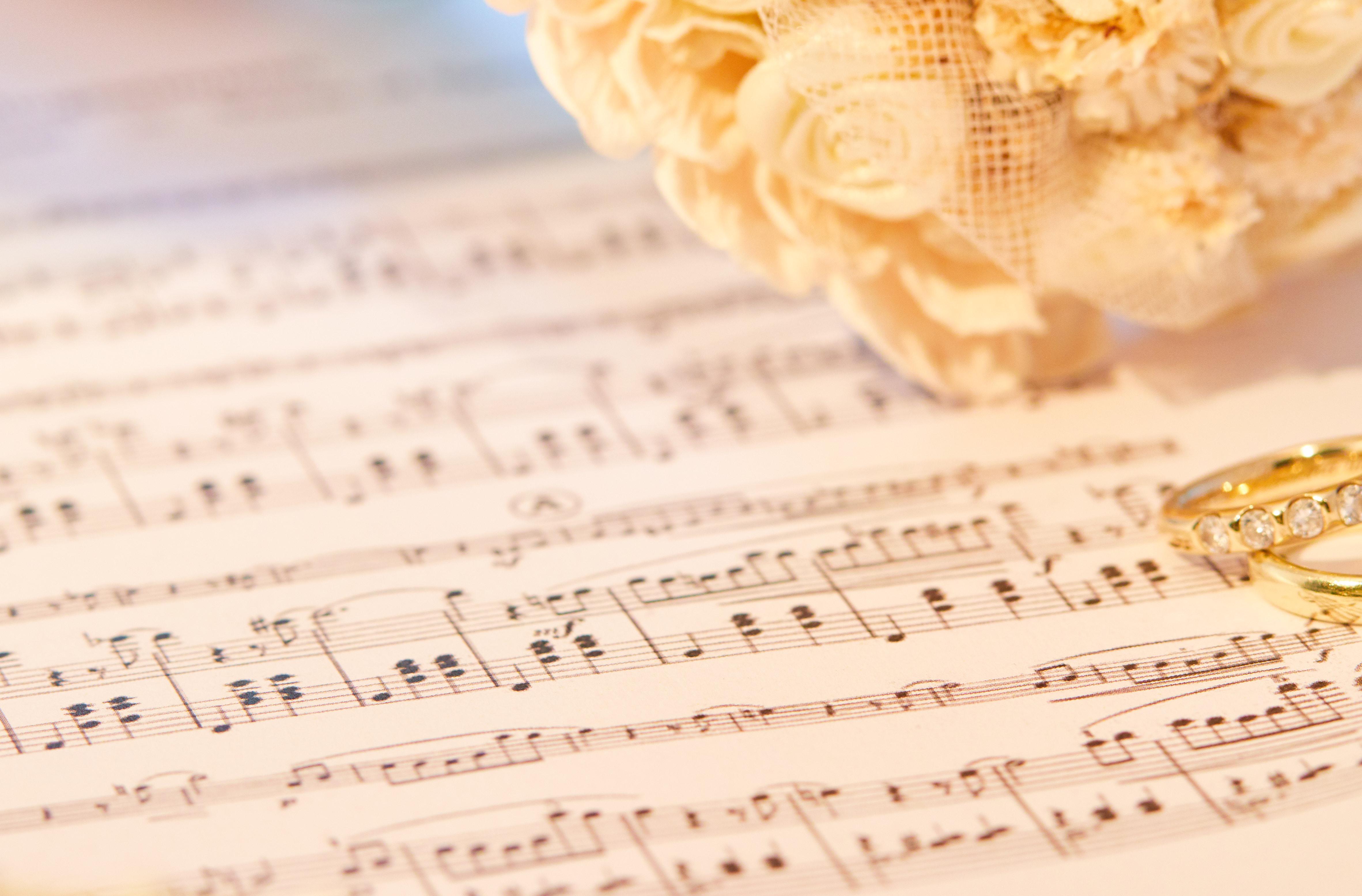 Selbst komponierte Hochzeitsmusik