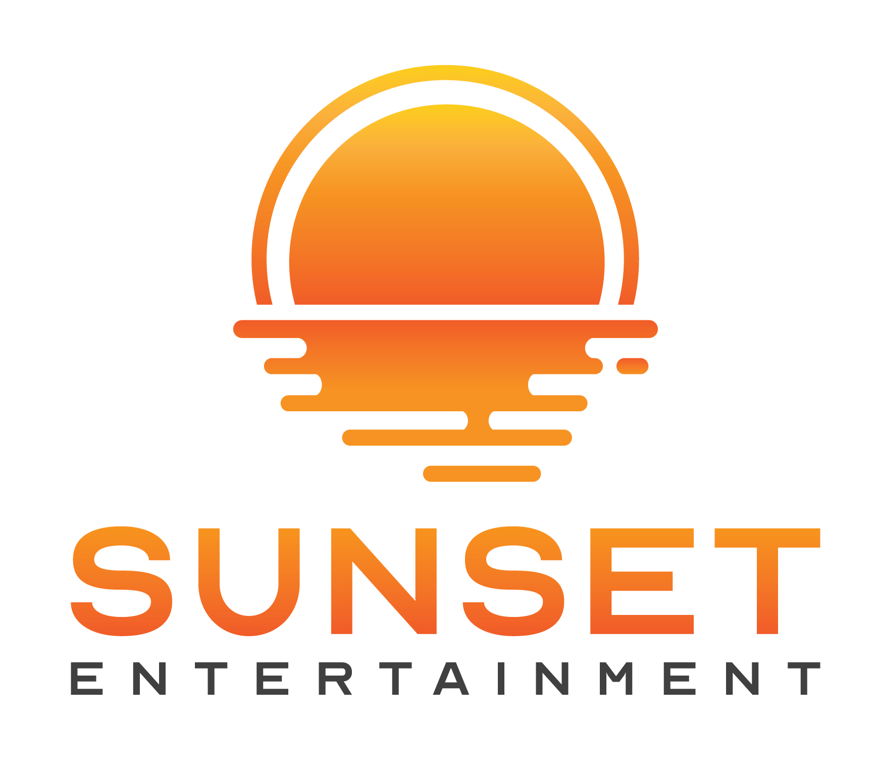 Sunset Logo Farbverlauf Transparent