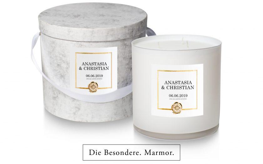 Hochzeitskerze die besondere marmor