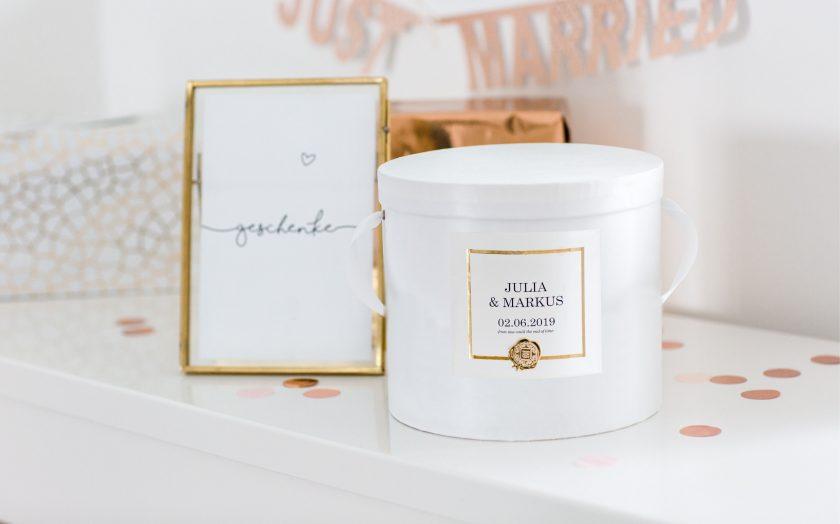 Hochzeitskerze in designerbox