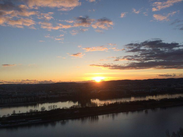 Terrasse - Sonnenuntergang
