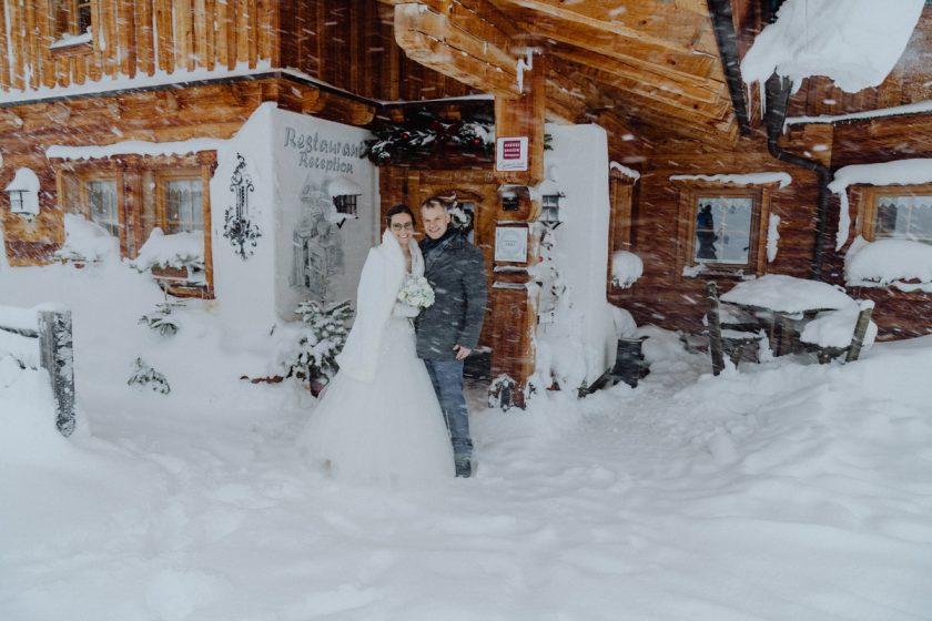 Winterhochzeit Almwelt Austria