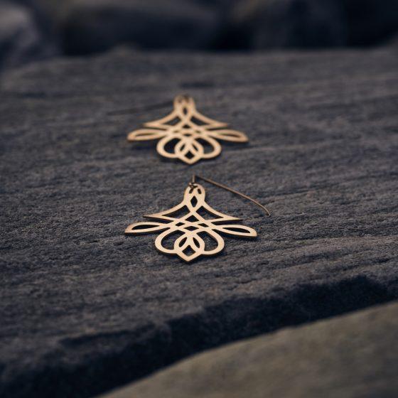 handgefertigte Ohrringe aus 585 Roségold