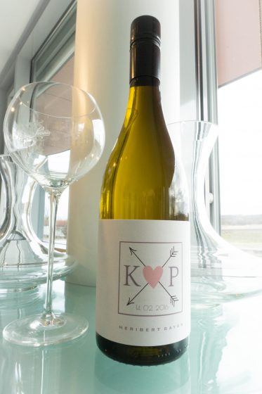 Wein-Etikette K+P