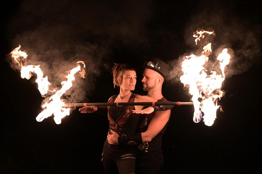 romantische Feuertanz einzigartige Feuershow Einlage