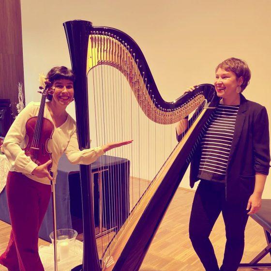 Harfe und Geige