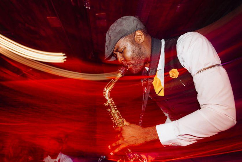 Saxophonist Nate 8