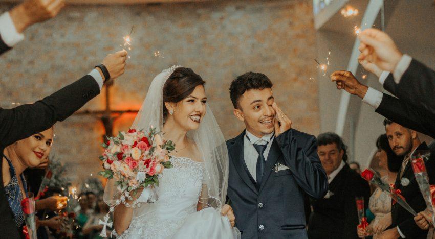 Hochzeit in der Stadt in Oberösterreich