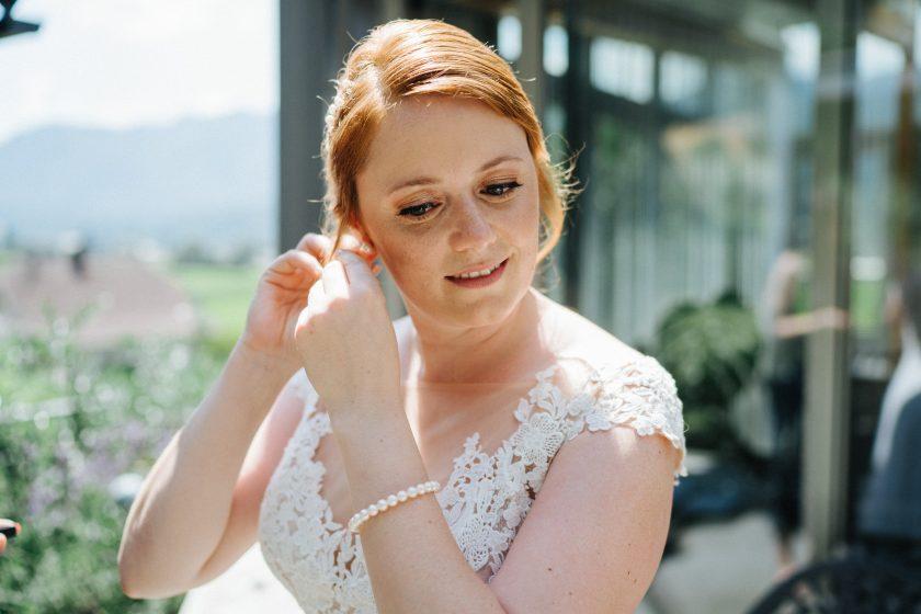 sommerliches Braut Styling