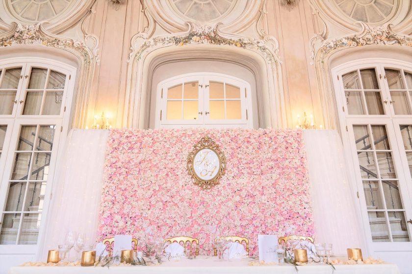 Blumenwand im Schloss