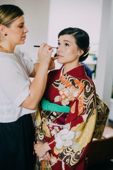 Asiatisches Braut Stylin